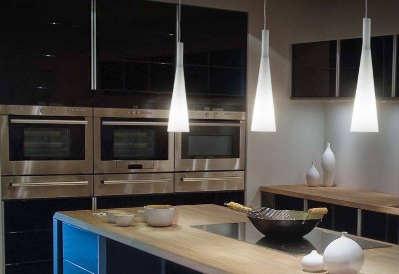 Illuminazione a binario per cucina con illuminazione in cucina