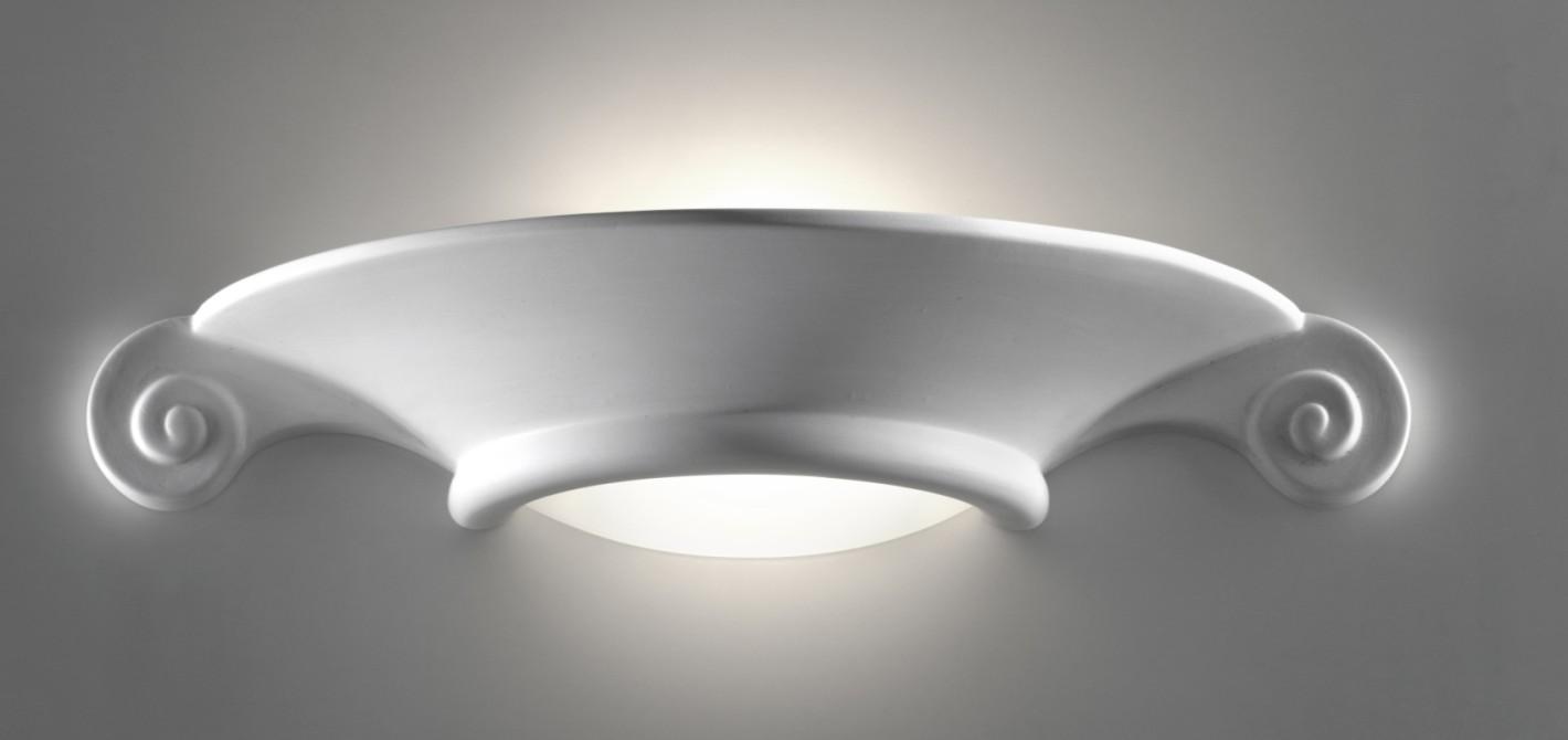 Illuminare casa con applique da parete in gesso e in ceramica - Applique in gesso da parete ...